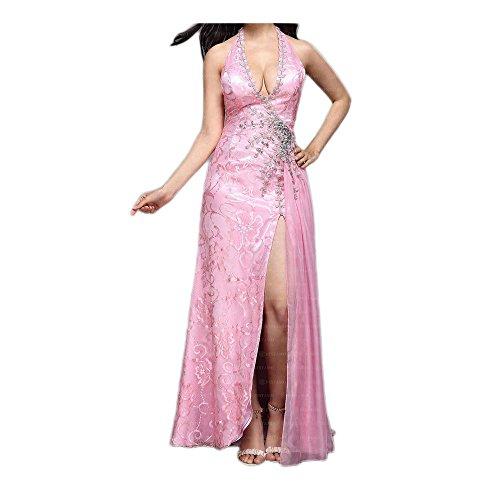 Rosa Abend Damen Chiffon Gr In Design Kleid 36 Festamo Ital Maxi Für bei XREYwEUq