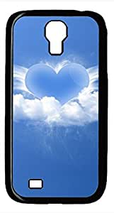 Samsung Galaxy S4 I9500 Black Hard Case - Clouds In Love Galaxy S4 Cases
