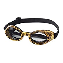 Doggles DODGILLG-37 ILS Large Leopard and Smoke Lens Eyewear for Dogs