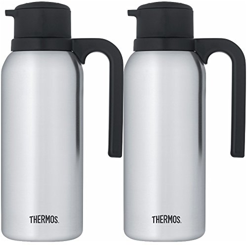 Thermos Vacuum Insulated 32 Ounce Compact Stainless Steel Carafe 2PK by Thermos