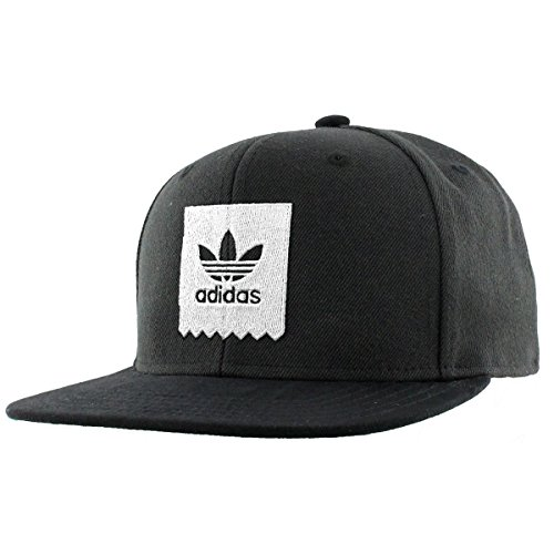 adidas Mens Originals Action Sports Cap, black/White, One (Action Black And White)