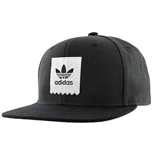 Cotton Stretch Visor (adidas Mens Originals Action Sports Cap, black/White, One Size)