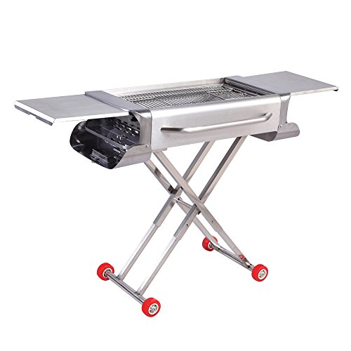 folding charcoal grill - 8