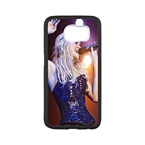 Samsung Galaxy S6 Cell Phone Case Black Pixie Lott On Stage SP4102296