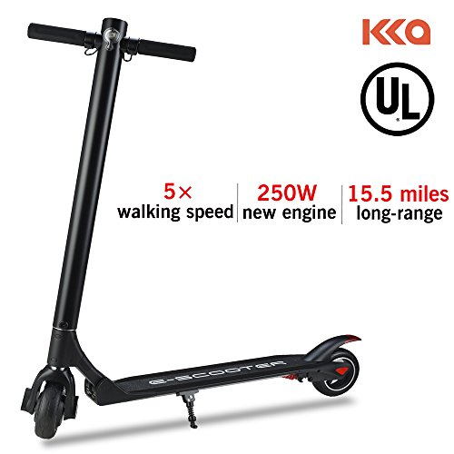 KKA Electric Scooter, 15.5 Mph Speed 15.5 Miles Distance Range Folding ELectric Kick Scooters For Adult By (Black)