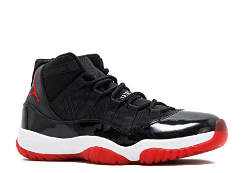 Jordan Air 11 XI Retro Bred Men's Basketball Shoes Black/Varsity Red/White Black/Red/White 378037-010-13