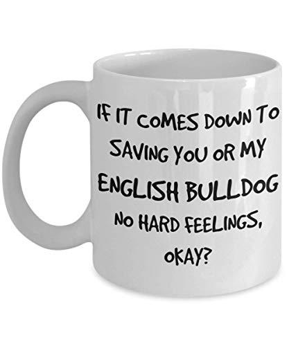 Funny English Bulldog Mug - White 11oz 15oz Ceramic Tea Coffee Cup - Perfect For Travel And Gifts - 11oz white