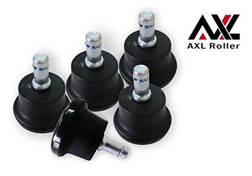AXL Roller Short Office Chair or Stool Bell Glides - SET OF 5 by AXL Roller