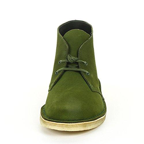 Clarks Desert Boot, Stivali Uomo Verde (Leaf Suede)