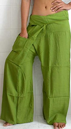 ThaiPhuket Fisherman Pants Thai Yoga Trousers Rayon Fabric FREE SIZE with Free Gift!!