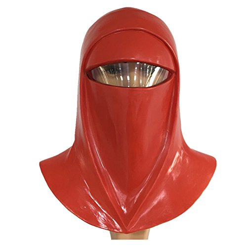 Emperor's Royal Guard Mask Imperial Mask Latex Full Head Red Hood Helmet Prop]()