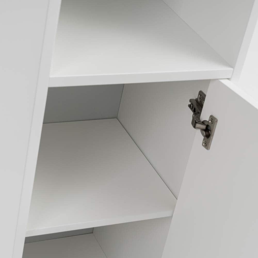 de 30x30x172 Armario de ba/ño Columna Blanco contempor/áneo de Madera MDF LOLAhome