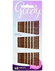 Goody Ouchless Bobby Pin, Crimped Brown, 2 Inches, 48 Count