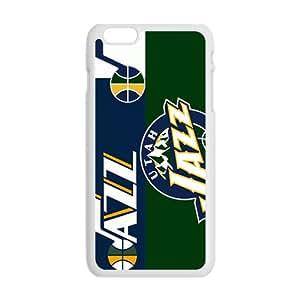 Utah Jazz NBA White Phone Case for iPhone plus 6 Case