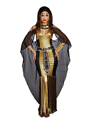 Dreamgirl Women's Egyptian Queen, Black/Gold S ()