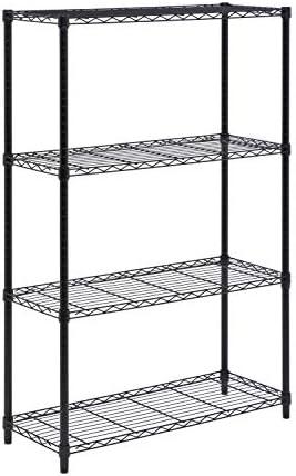 Honey Can Do Shf 01908 Adjustable Storage Shelving Unit 250 Pounds Per Shelf Black 4 Tier 36lx14wx54h Amazon Co Uk Kitchen Home