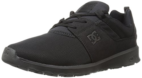 DC Men's Heathrow Skateboarding Shoe, Black/Black/Black, 7 D D US