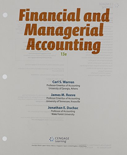 Financial+Managerial Acct.(Looseleaf)