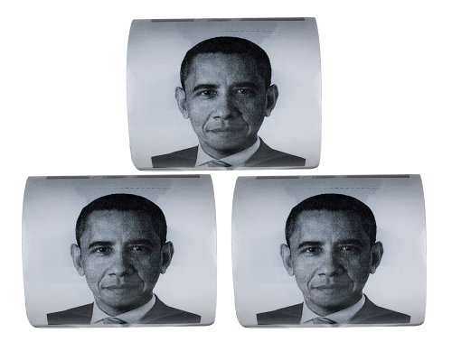 Fairly Odd Novelties Obama Novelty Toilet Paper Pack of 3, -