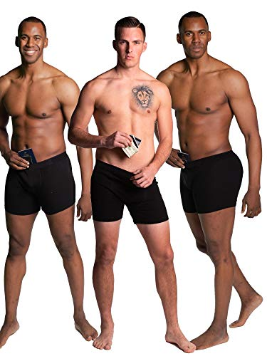 Stashitware Large Black Mens Secret Stash Pocket Underwear, 3 Pack. (Best Place To Sell Sewing Machine)