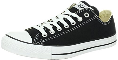 Converse Unisex Chuck Taylor All Star Low Top Black Sneakers - 7 B(M) US Women / 5 D(M) US Men (Zapatos De Moda)