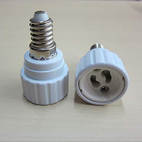 Halica 6pcs E14-GU10 lamp holder converters, E14 to GU10 Lamp AdapterLED extend base Light Bulb Lamp Socket Adapter,