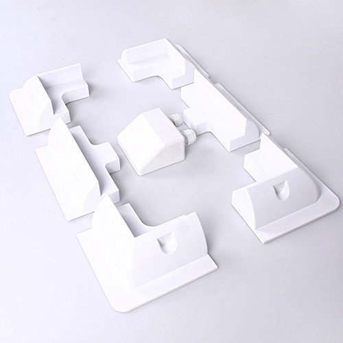NUZAMAS Solar Panel Mounting Side Brackets Corner 4 corners & 2 side mounts Double Cable Entry Gland for Motorhomes Boats Caravans RV Boats Sheds UV-resistant - White by NUZAMAS