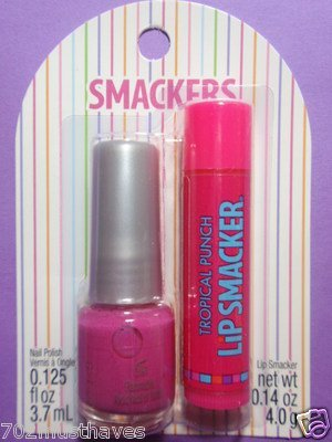smackers-lipsmaker-tropical-punch-lip-gloss-girl-friends-nail-polish