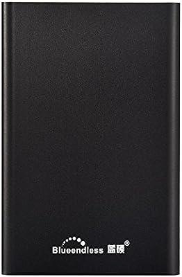 Blueendless - Disco duro externo portátil de USB 3.0,para ordenador y ordenador portátil 80GB, color negro