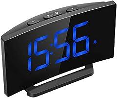 """[Actualizado] Radio Despertador Digital Proyector, Pantalla LED 5"""" FM Radio Reloj Despertador con Proyector Digital de Alarma Dual con 4 Sonidos, 3 Tonos, 6 Brillos, Puerto USB, 12/24 Horas, Snooze"""