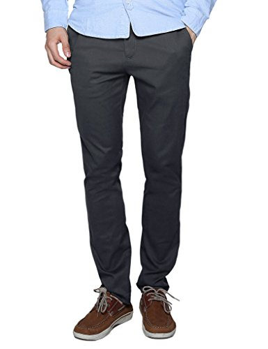 Match Men's Slim Fit Casual Pants (34, 8109 Gray)