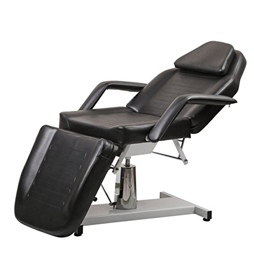 - BeautyRiver Beauty Salon Equipment White Facial Massage Table Bed Chair (Black)