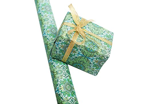Vinegar&Brown Gift Wrapping Paper for Christmas, Wedding, Birthday, and More Holidays, Thick Kraft Paper with Well-Printed Patterns, 27.6''x19.7'' Per Sheet, Set of 9 -