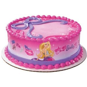 A Birthday Place Barbie Doll Edible Cake Border Decoration