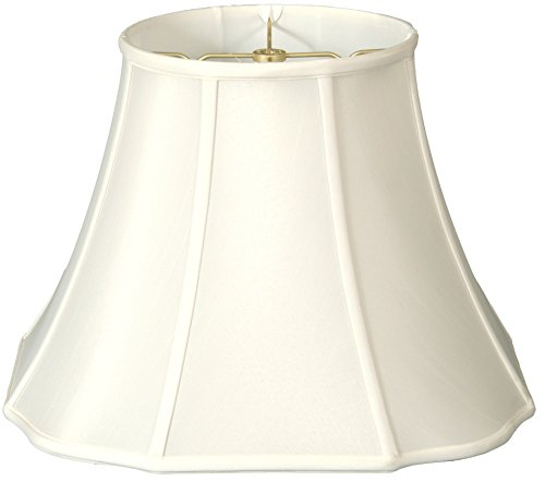 Royal Designs Flare Bottom w Outside Corner Scallop Basic Lamp Shade, White, 9 x 16 x (Stiffel Lamp Shades)