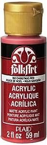 FolkArt Acrylic Paint (2 Ounce), 958 Christmas Red