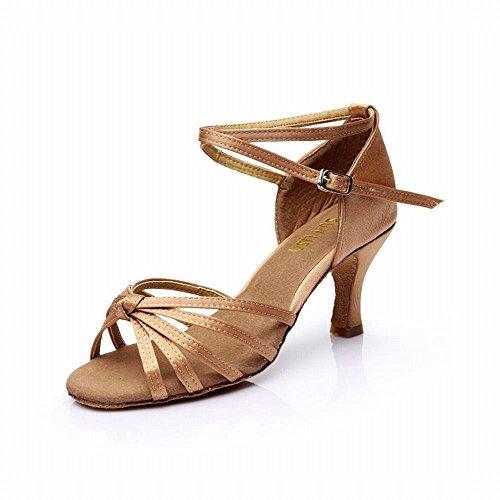 Cuero de de Samba de Baile Modern Tobillo de de Baile Zapatos Baile Sandalias Baile Zapatos BYLE Blando Fondo Alto de los Baile Zapatos de Zapatos Latino Jazz Onecolor Adultos luz 7CM de Talón Social Amarre Y1RnEqfx