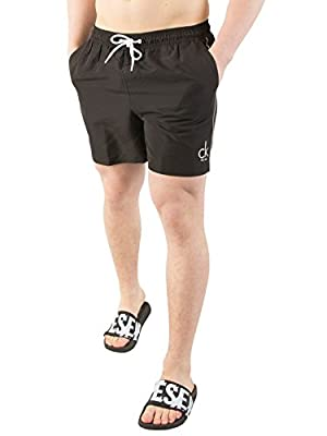 Calvin Klein Men's Medium Drawstring Swimshorts, Black