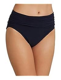 Magicsuit Jersey Shirred Bikini Bottom, 16, Black