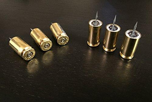 Bullet Push Pins. Bullet Thumb Tacks Handmade Using Recycled .40 Caliber Bullet Casings. Police Gift, Gun Gift, New Job Gift, Gun Range.