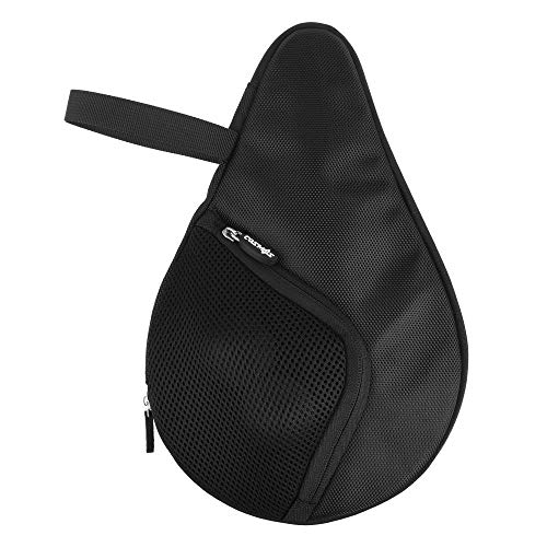 CM Table Tennis Racket Case Cover Ping Pong Paddle Carry Bag with Ball Storage Pocket, For 1 Paddle