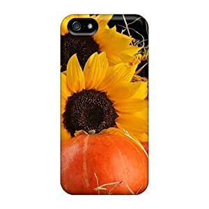 phone covers Awesome Design Sunflowers Pumpkins Hard Case Cover For iPhone 5c WANGJING JINDA