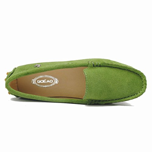 Meijili - Sandalias mujer verde oliva