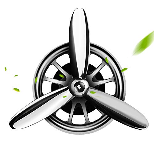 aokway Car Air Fresheners Vent Clip, Essential Oil Car Fragrance Diffuser Vent Clip Car Decoration Car Purifier Air Force I Spin Propeller (Silver) ()