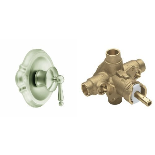 Moen TS310BN-2570 Waterhill Posi-Temp Shower Only with Valve, Brushed Nickel