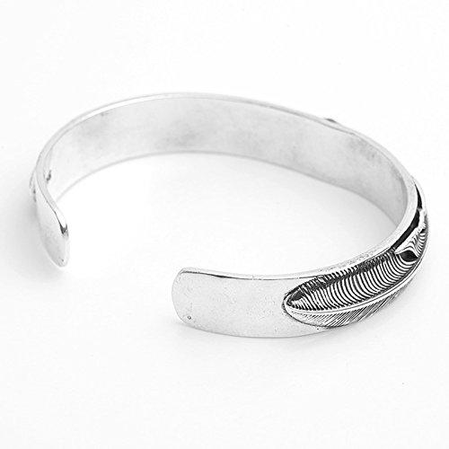 Daesar 925 Silver Bracelet For Men Opening Eagle Feathers Bracelet Silver by Daesar (Image #3)