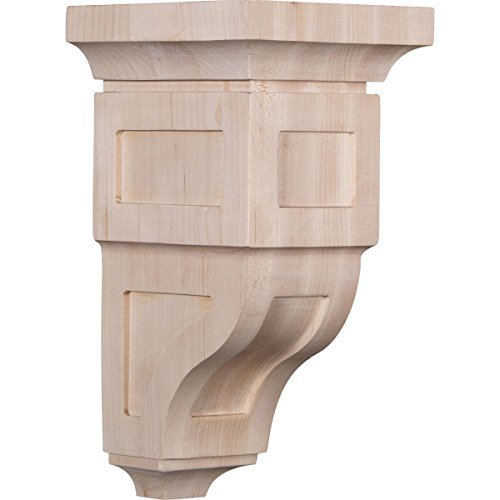 Ekena Millwork CORW05X05X10RYRO 5W x 5 3/4D x 10H Medium Reyes Wood Corbel, Red Oak by Ekena - Oak Medium Corbels