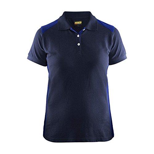 Blaklader 339010508985XL Women Polo Shirt, X-Large, Navy Blue/Cornflower Blue