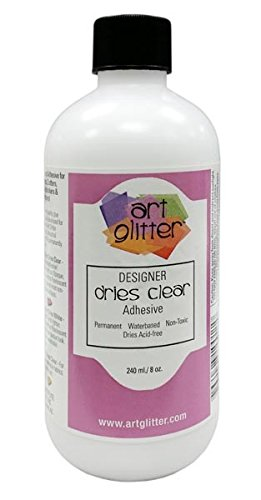 Art Institute Glitter 4336846143 Dries Clear Adhesive Glue 8 Ounce (Flat Cap) Refill Bottle, 8 oz - Single Pack, Re