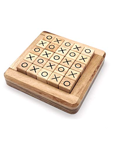 Fun Family Games To Play - Wooden Board Games Tic Tac Toe